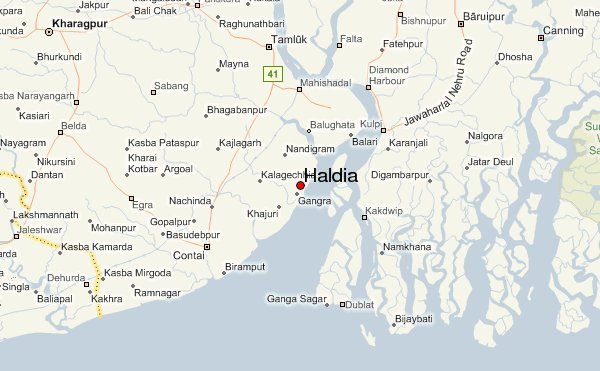 map of Haldia